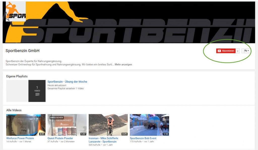 YouTube Sportbenzin Abonnieren